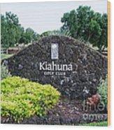 Kiahuna Golf Club Wood Print