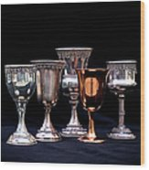 Kiddush Cups Wood Print