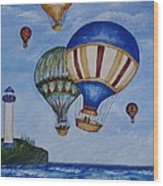 Kid's Art- Balloon Ride Wood Print