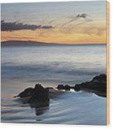Kihei Maui Sunset Wood Print