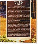 Kilgore Historical Marker Wood Print