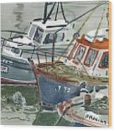 Kilmore Boats Wood Print