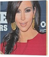 Kim Kardashian At Arrivals For 2011 Wood Print by Everett