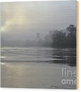 Kinabatangan River At Sunrise Wood Print