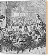 Kindergarten, 1876 Wood Print