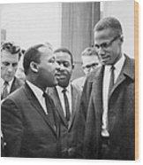 King And Malcolm X, 1964 Wood Print