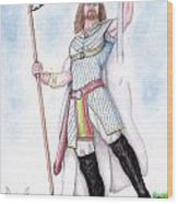 King Arthur Wood Print by Fabio Lion