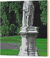 King Edward Vii Statue - Lichfield Wood Print