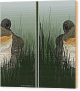 King Frog - Gently Cross Your Eyes And Focus On The Middle Image Wood Print