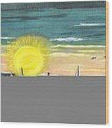 King Harbor At Sunset Wood Print