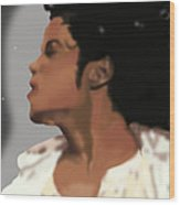 King Of Pop King Of The Universe Wood Print by Diva Jackson