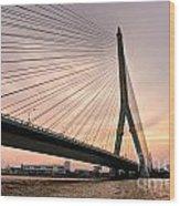 King Rama Bridge Bangkok Wood Print
