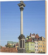 King Sigismund Column In Warsaw Wood Print
