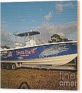 Kingfish Boat Wrap Wood Print