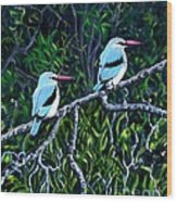 Woodland Kingfisher Wood Print