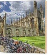 Kings College Cambridge Wood Print
