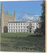 Kings College Chapel And The Gibbs Building Wood Print