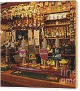 Kings Head Pub Kettlewell Wood Print
