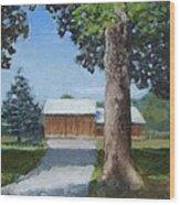 Kingsbury Farm Wood Print by Mark Haley