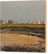Kingsnorth Power Station Wood Print