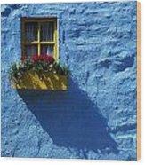 Kinsale, Co Cork, Ireland Cottage Window Wood Print