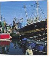 Kinsale, Co Cork, Ireland Fishing Boats Wood Print