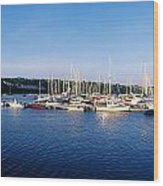 Kinsale, Co Cork, Ireland Moored Boats Wood Print