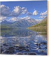Kintla Lake Pebbles Wood Print