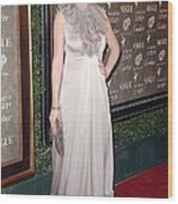 Kirsten Dunst Wearing A Valentino Gown Wood Print by Everett