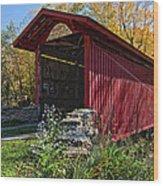 Kissing Bridge 2 Wood Print
