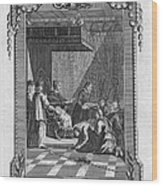 Kissing The Popes Feet Wood Print