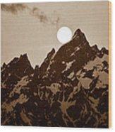 Kissing The Teton Wood Print