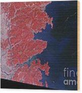 Kitakami River, Japan, After Tsunami Wood Print