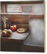 Kitchen - Sink - Farm Kitchen  Wood Print