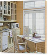 Kitchen Cabinets And Table Wood Print