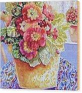Kitchen Primrose II Wood Print by Ann  Nicholson