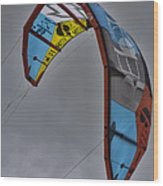 Kite Surfing Wood Print by Douglas Barnard