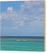 Kitesurfing In Kauai II Wood Print