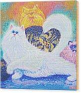 Kitties For Jenny Wood Print