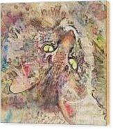 Kitty Fluffs Wood Print by Marilyn Sholin