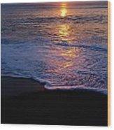 Kitty Hawk Beach At Sunset Wood Print