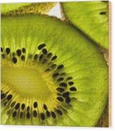 Kiwi Fruit Macro 5 Wood Print