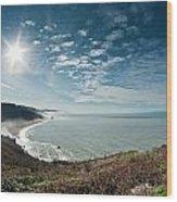 Klamath Overlook With Sun Wood Print