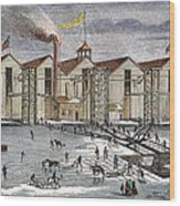 Knickerbocker Ice Co.,  C1846 Wood Print