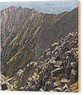 Knife Edge Mount Katahdin Baxter State Park Wood Print