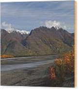 Knik River Wood Print