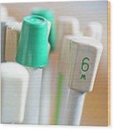 Knitting Needles Wood Print