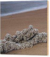 Knots On The Sand Wood Print