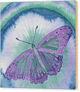 Knowingness Butterfly Wood Print