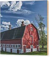 Knox Barn 13829c Wood Print